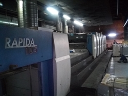 Изображение 6 красочная офсетная машина KBA Rapida 105-6 L Hybrid